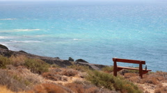 Beautiful Coastal view Kouklia Cyprus. Stock Footage