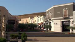 Sicily factory outlet mall 'Sicilia Outlet Village'. Stock Footage
