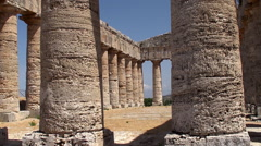 Doric temple of Segesta. Sicily - stock footage