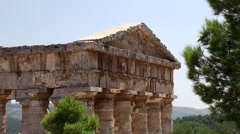 Doric temple of Segesta. Sicily Stock Footage
