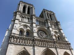 The grotesque Notre Dame in summertime Paris Stock Photos
