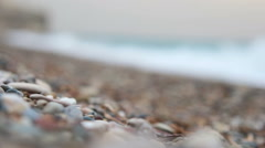 Beautiful Secluded pebble beach Stock Footage