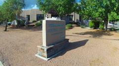 Verde Valley Justice Court House- Cottonwood Arizona Stock Footage