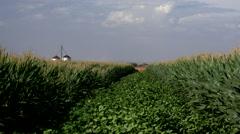 4K Beautiful Agriculture Farm Field Silo Scenic Stock Footage
