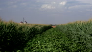Stock Video Footage of 4K Beautiful Agriculture Farm Field Silo Scenic