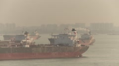South China See Container Vessel Voyage 26 Stock Footage