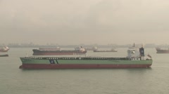South China See Container Vessel Voyage 28 Stock Footage