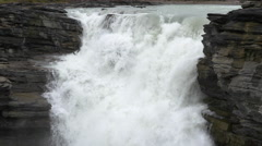Athabasca Falls in Jasper National Park - stock footage