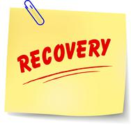 vector recovery message - stock illustration