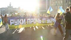 Protest in Moscow against war in Ukraine Stock Footage