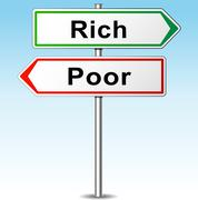 Stock Illustration of vector rich and poor concept