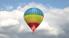 Hot air ballon gets down - stock footage