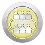 Stock Illustration of icon, button, pictogram conference