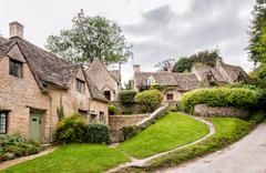 Houses of Arlington Row in the village of Bibury, Stock Photos
