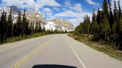 POV Driving Travel Tourism Location Remote Environment Snow Rock Glacial Valley Stock Footage