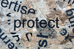 protect word cloud - stock photo