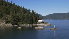 Ferry Departing Horseshoe Bay, British Columbia Stock Footage