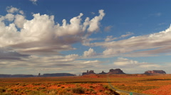 4K Monument Valley Day 08 Timelapse Clouds USA Stock Footage