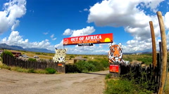 RV Exits Out Of Africa Wildlife Park- Camp Verde Arizona Stock Footage