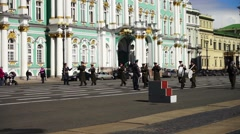 Run-through before Victory day parade, Saint Petersburg Stock Footage