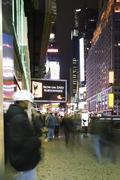Sidewalk scene on Broadway in New York City looking north at Times Square Kuvituskuvat