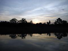 Sundown at Rapti River, Chitwan National Park - stock photo