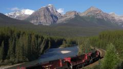 Canadian Pacific Train Westbound at Morant's Curve Stock Footage
