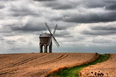 Chesterton windmill under a moody cloudy sky Stock Photos