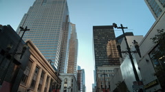Stephen Ave in Downtown Calgary - stock footage