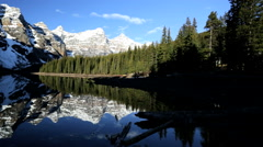 Blue Glacial Water Mountains Valley Travel Activity Hiking Destination Stock Footage