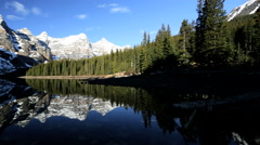 Outdoor Recreation Travel Lake Moraine Canada Remote Scenic Beauty Stock Footage