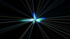 Fractal radiant star with colored rays Stock Footage
