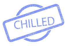 chilled stamp - stock illustration