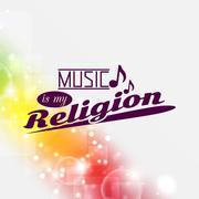 music is my religion - stock illustration