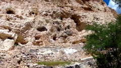 Cave Dwellings In Cliff Face- Montezuma Castle National Monument Stock Footage