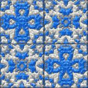Stock Illustration of glazed tiles seamless generated hires texture