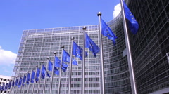 Stock Video Footage of European Commission in Brussels.