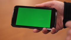 Android Phone Green Screen Swipe - stock footage