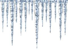 Icicles - stock illustration