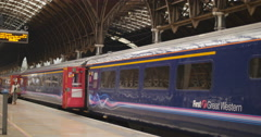 First Great Western train at Paddington 4K Stock Footage
