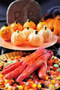 Halloween food Stock Photos