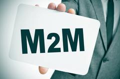m2m, for the machine to machine technologies - stock photo