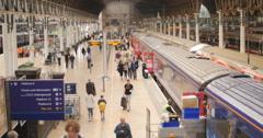 Overview of London's Paddington station 4K Stock Footage