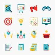 Marketers flat icon Stock Illustration