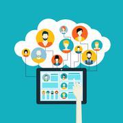 Stock Illustration of Social network concept