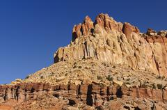 red rock escarpment in the southwest - stock photo