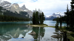 Glacial Valley Blue Water Lake Remote Forest Nature Hiking Trails Scenic Beauty - stock footage