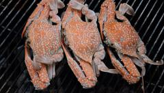 Grilled crab. HD Stock Footage