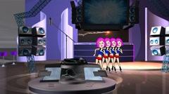 Studio Dancers Animation:  Looping Stock Footage
