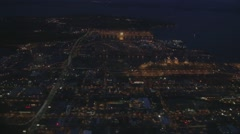 Seattle at Night From Above Stock Footage